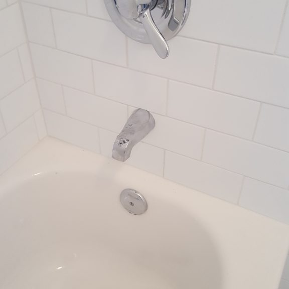 Completed bath tub repair job